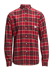 CheckedshirtL/S - RED