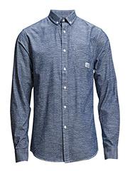 PrintedshirtL/S - BLUE