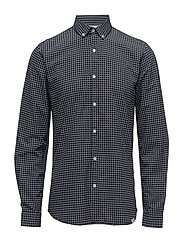 AOP oxford shirt L/S - BLACK