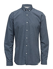 AOP oxford shirt L/S - DARK BLUE
