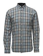 Checked cotton shirtL/S - LIGHT BLUE