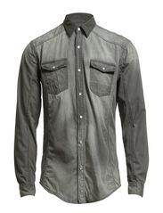 Denim shirt L/S - USED GREY