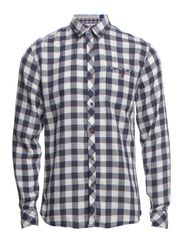 Casual washed shirts L/S - BLUE CHECK