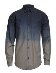Dip dyed casual shirt L/S - DK GREY