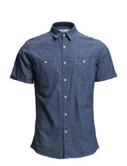 Chambray shirt S/S - BLUE