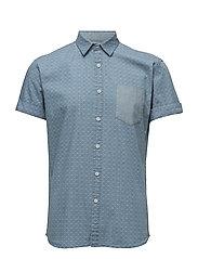 AOP Chambra shirt S/S - WHITE