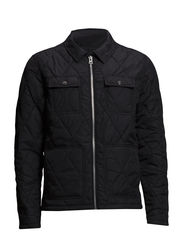Workers quilted jacket - BLACK