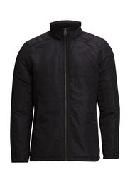 Quilted panel jacket - BLACK