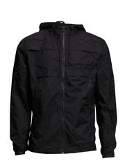 Hooded windbreaker - BLACK