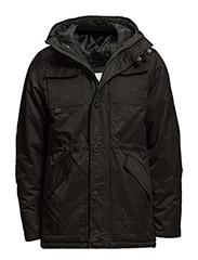 Utility parka coat - BLACK
