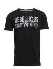 Rebellios owl tee s/s - BLACK