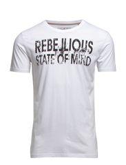 Rebellios owl tee s/s - WHITE