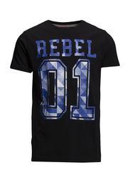 Gradient rebel tee S/S - BLACK