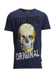 Crazy skull tee S/S - DK BLUE