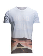 All over printed tee S/S - BLUE