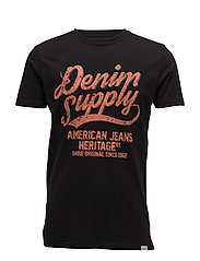 DenimheritageprintteeS/S - BLACK