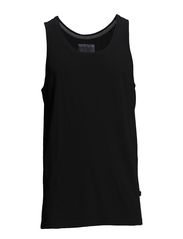 Dyed and washed out basic tank - BLACK