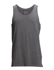 Dyed and washed out basic tank - GREY SKY