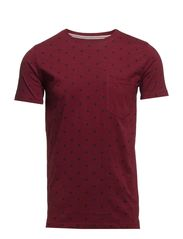 All over printed map tee S/S - BORDEAUX