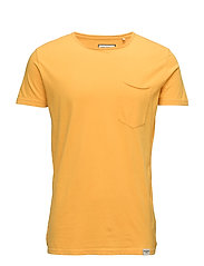 Dyed & washed out tee S/S - GOLD YELLOW