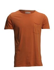 Dyed & washed out tee S/S - SHARP ORANGE