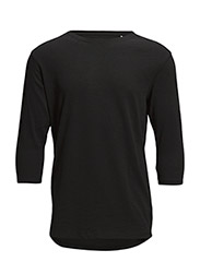 Slubtee3-4/Sleeve - BLACK