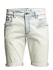 Wall St. shorts - acid wash - ACID BLUE