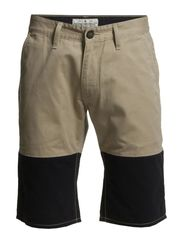 Two cut shorts - NAVY/SAND