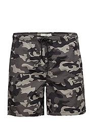 Camouflage swims horts - BLACK