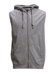 Sleeveless hoodie - GREY MEL