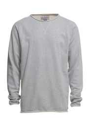 Raw o-neck sweat - GREY MEL