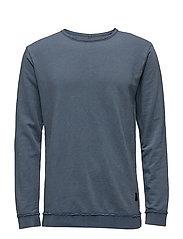 Raw edge sweatshirt - BLUE