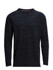 Raw boatneck knit - DENIM B MEL