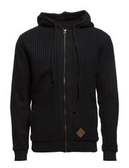 Boa knit cardigan - BLACK