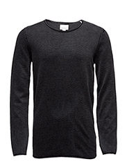 Acidwashrolledgeknit - BLACK