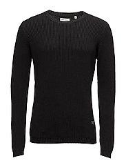 O-neck knit - BLACK