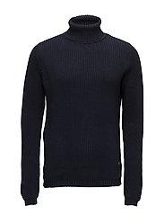 Roll neck knit - DARK NAVY
