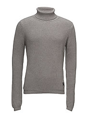 Roll neck knit - GREY MEL