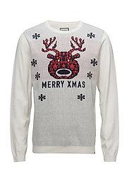 Jacquard merry xmas knit - OFF WHITE