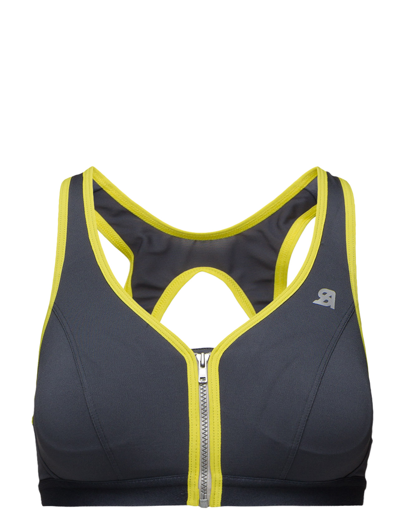 Active Zipped Plunge Bra Shock Absorber Sports undertøj til Damer i Gul