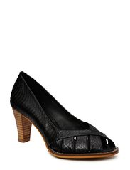 THE SHOE by Sofie Schnoor Snake leather open toe pump