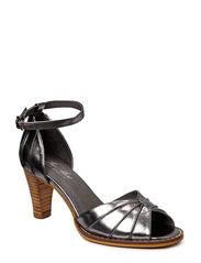 THE SHOE by Sofie Schnoor Metallic leather open toe
