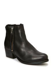 Short Boot with zip - Black