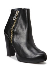 High Heeled Boots with zip - Black