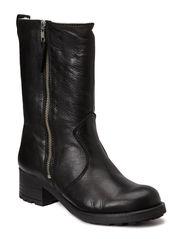 3/4 Boot w Zip - Velvet Black