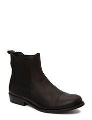Kort støvle m elastik - Black