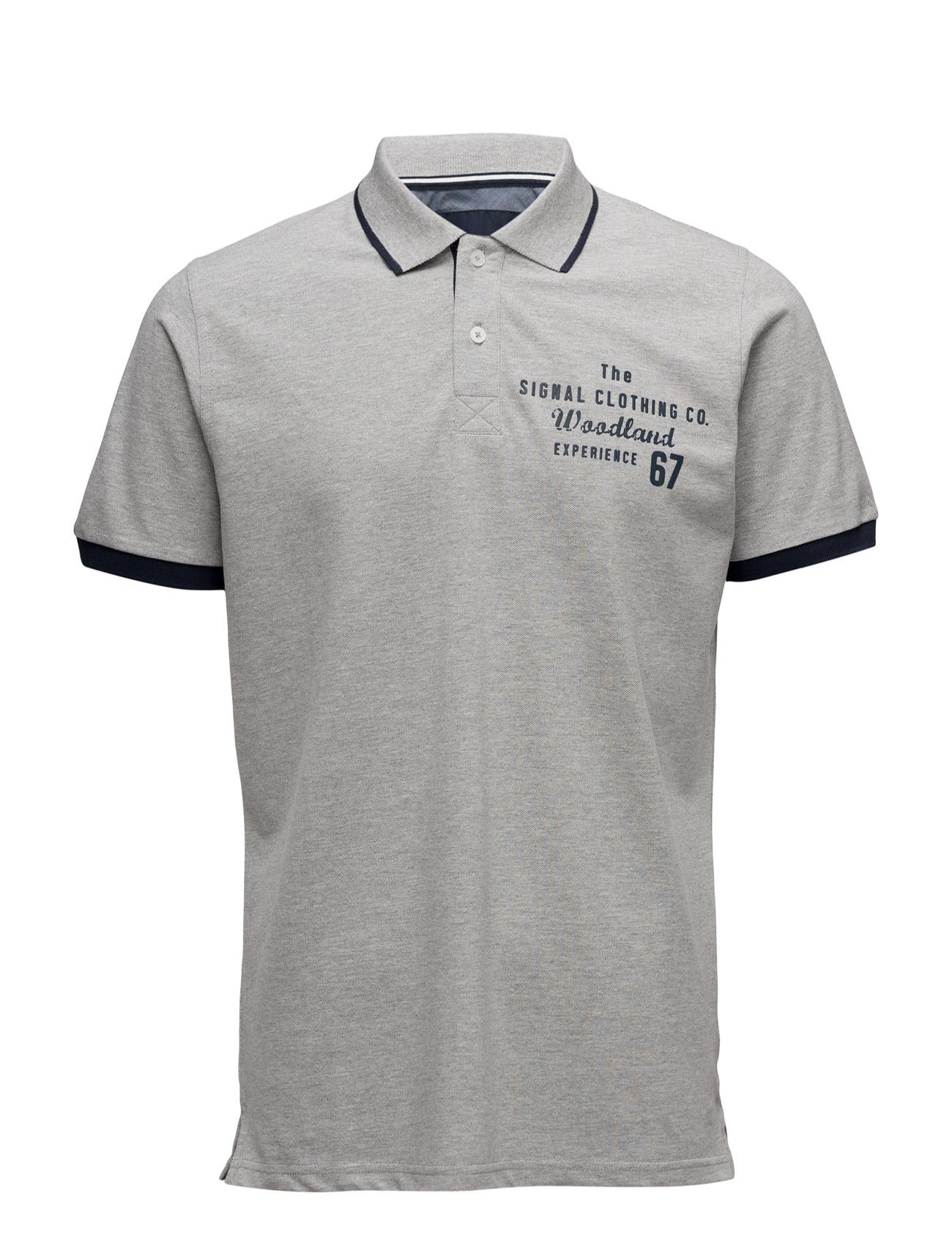 Rupert Campaign Signal Kortærmede polo t-shirts til Mænd i Light Grey Melange