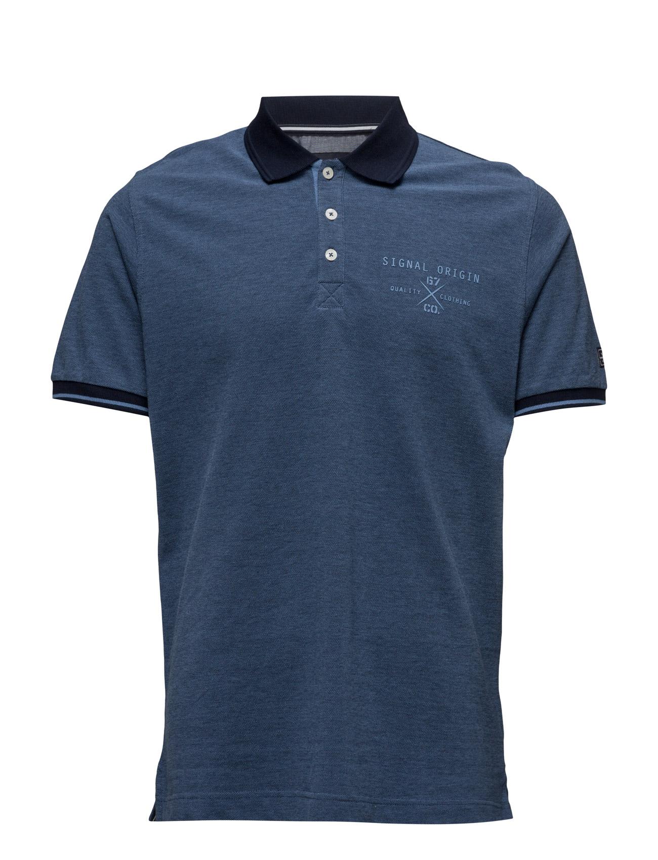 Nixon Signal Kortærmede polo t-shirts til Herrer i Duke Blå