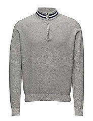 Donny Half zip - LIGHT GREY MELANGE