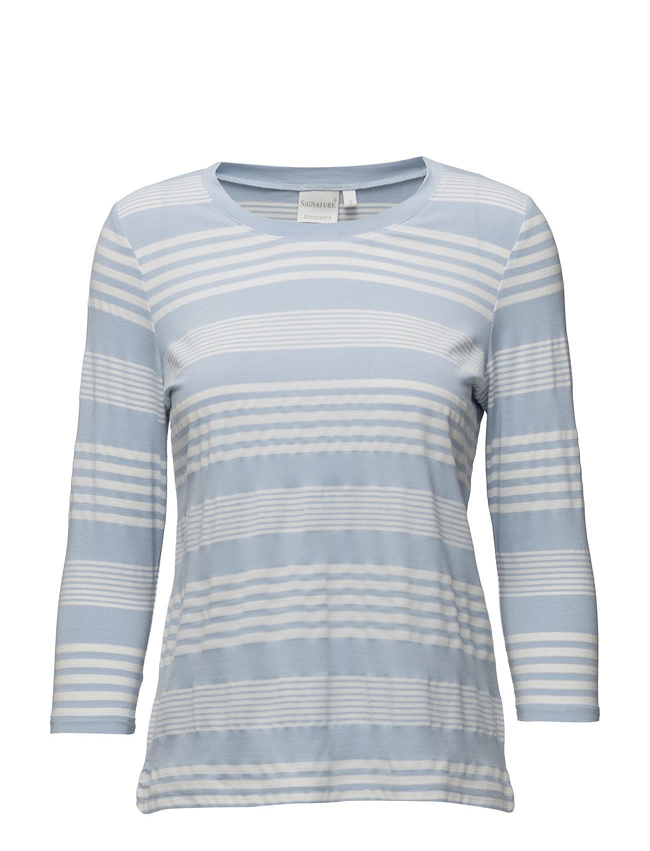 Shirt S/S Woven Signature Langærmede til Damer i Lyseblå